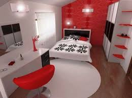 Red Black White Bedroom Ideas Photo   7