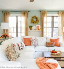 Small Picture Fall Decorating Ideas Fall Home Tour 2015 White sofas Living