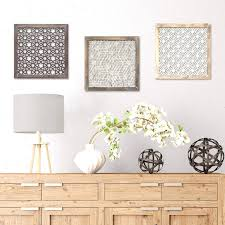 stratton home decor distressed grey wood framed laser cut metal intended for recent distressed metal wall