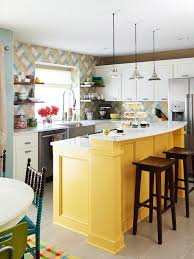 Bright colorful kitchen design ideas Brothers Twotone Cabinetry Colorful Kitchen Better Homes And Gardens Custom Touches For Small Kitchens