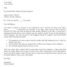 Validation Of Debt Letter Template Debt Verification Letter Crna