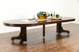 arts crafts mission oak antique craftsman dining table 6 leaves mission oak round dining table