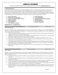 Data Management Resume Objective Examples Sample Senior Project
