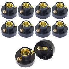 Mini Light Bulb Socket Totot 10pcs E12 Mini Bulb Holder Black Plastic Light Beads Lamp Bases Student Experiment Lighting Diy Accessories Screw Type Bulb Socket