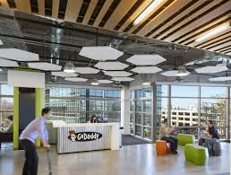 silicon valley office. the office combines industrial elements with rich colors and open layout ensures close collaboration communication between employees silicon valley d