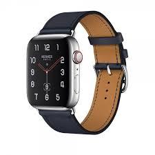 apple watch hermès series 4 40mm gps cellular stainless steel case with bleu indigo swift