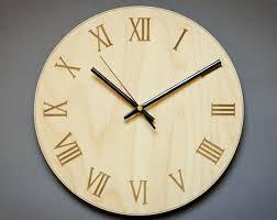 large office wall clocks. Large Office Wall Clocks Roman Numeral Clock Modern Wooden . M