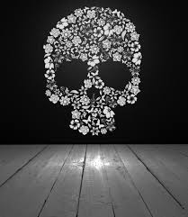 Skull Bedroom Decor Skull Decor Skull Decal Skull Flowers Flower Skull Vinyl Wall