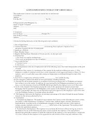 Agreement Template Philippines Best Of Sample Employment Separation ...