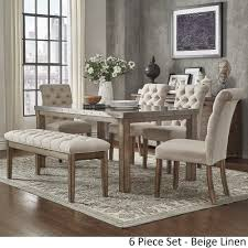 Cassidy Stainless Steel Top Rectangle Dining Table Set by iNSPIRE Q Artisan  | Overstock.com