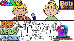 Small Picture How to Color Bob Wendy and Pilchard Bob The Builder Nick Jr