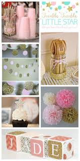 Kayleigh's baby shower? Twinkle theme with sparkly pink/gold (maybe mint?)
