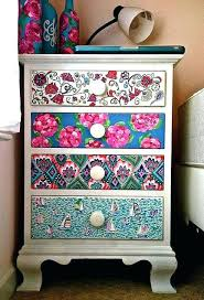 decoupage ideas for furniture. Decoupage Furniture Ideas A Designs Dressers Painted Wallpapered Decoupaged Uk For