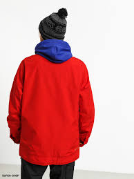 Mens Burton Dunmore Snowboard Jacket Flame Scarlet