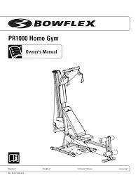 Bowflex Pr1000 Workout Chart Bowflex Pr1000 Home Gym Exercises Manual