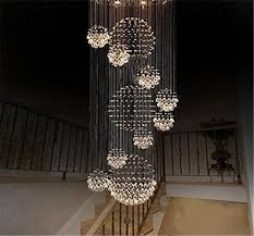 crystal chandelier rain drop with 11 crystal sphere ceiling light fixture modern
