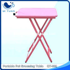 portable dog grooming table with wheels suppliers small lightweight d portable dog grooming table