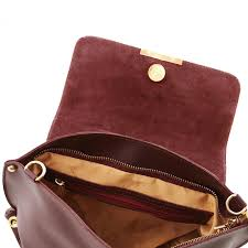 tuscany leather ruga leather handbag with detachable strap made in italy