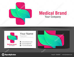 pharmacy design company medical pharmacy corporate logo and business card sign template