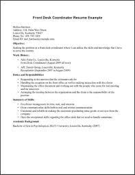 Resume For Medical Receptionist New 49 Inspirational Front Desk