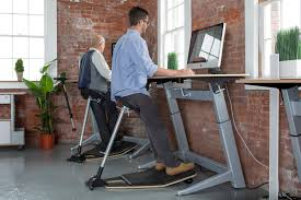 Stand Up Desk with tall stool
