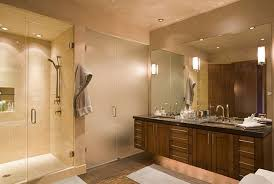 lighting ideas for bathroom. Stunning Modern Bathroom Light Fixtures Large Mirrors And Glass Doors Wooden Drawers Lighting Ideas For E
