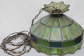 green glass pendant light fixtures inspirational vintage leaded glass shade light fixture green stained