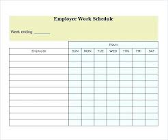 Work Schedule Spreadsheet Template Free Work Schedule Templates For Word And Excel Restaurant