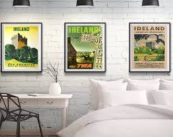 incredible irish wall art elegant design etsy ireland posters set of travel triptych 3 print decor on irish wall art decor with amazing irish wall art best design interior blessing collectibles