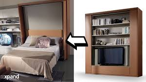 murphy bed furniture. Amore Revolving TV Murphy Bed Demo Expand Furniture T