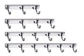 4PCS/SET Shelf shelving bathroom towel rack coat row hook clothes hanging  drying clip wall