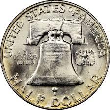 1959 Franklin Half Dollar Value Chart 1959 50c Ms Franklin Half Dollars Ngc