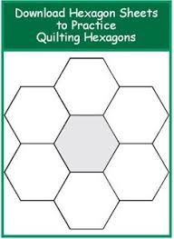 Step 1: Make Your 2-in Hexagon Template   Template, Patchwork and ... & Excellent article on quilting hexagons. Has templates for experimenting.  How to Quilt Hexagons / Adamdwight.com