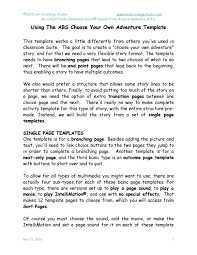 Choose Your Own Adventure Story Template Ics Adventure Template Tutorial By Annies Tutorials Online Issuu