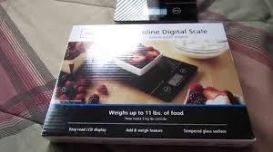 mainstays slimeline digital scale review youtube