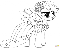 Coloring Pages Rainbow Dash Coloring Page Pages My Little Pony