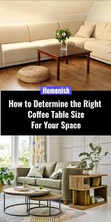 right coffee table size for your space