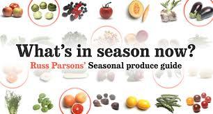 Seasonal Produce Guide La Times Cooking