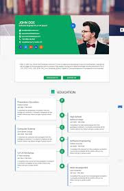 Resume Website Template 100 Best HTML Resume Templates for Awesome Personal Sites 5