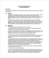 Catering Contract Template Gorgeous Catering Services Contract PDF Template Free Download Catering
