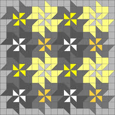 157 best images about Block Patchwork on Pinterest   Quilt ... & Easy triangle quilting patterns: Tessellating flower quilt block pattern.  (These wavy flowers are Adamdwight.com