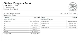 Sample School Report Cool Progress Report Card Templates Doc Free High School Report Card 44th