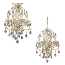 vaxcel nc chu004gw newcastle gilded white gold finish 13 nbsp wide mini chandelier ceiling loading zoom