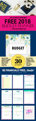 the ultimate free printable 2018 budget planner you need