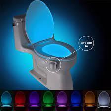 IR Thông Minh Cảm Biến Chuyển Động Bệ Ngồi Toilet Đèn Ban Đêm 8 Màu Đèn