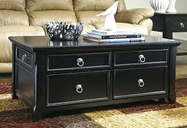 image of black lift top coffee table furniture dark wood with drawers