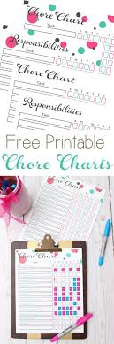 best 25 free printable chore charts ideas only