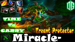 dota 2 miracle treant protector time to carry gameplay dota2