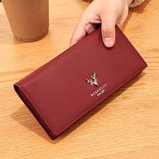 barossa wine we ancity2018 new leather wallet women s long thin small fresh japanese and korean