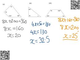 forming and solving equations from angles algebra solving equations angles showme